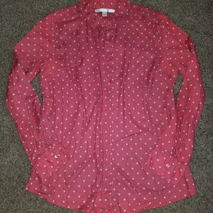 Lauren Conrad polka dot button down shirt